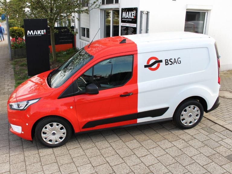 Autofolierung und Autobeschriftung fuer die BSAG Bremen
